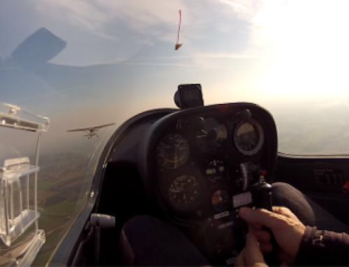 Glider first solo flight