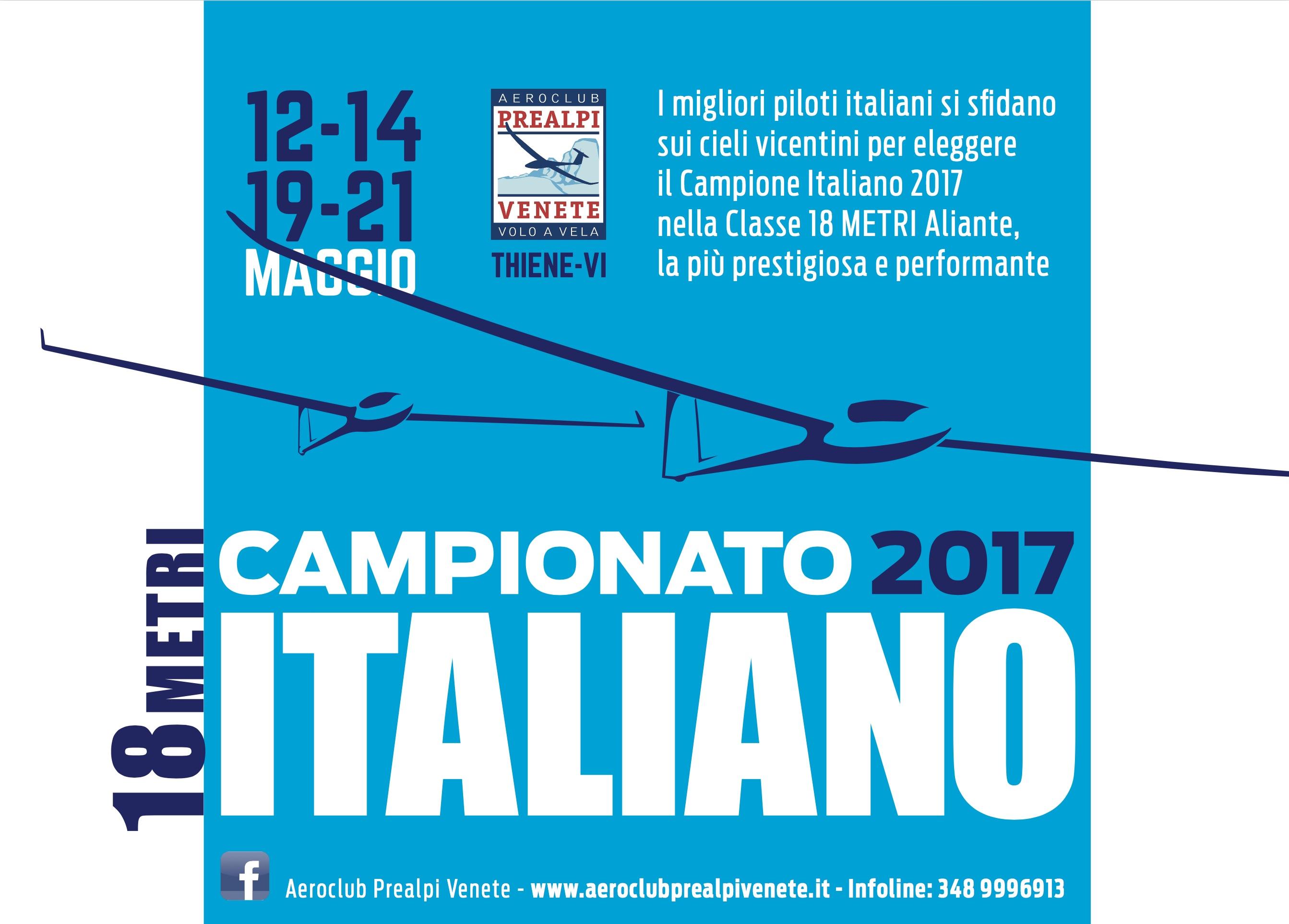 Campionato italiano 18 metri 2017 Thiene Aeroclub Prealpi Venete
